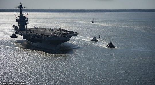 Đây là tàu sân bay đắt nhất của Hải quân Mỹ. Ảnh: AP