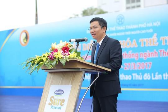 Ông Mai Thanh Việt, Giám đốc Marketing ngành hàng Sữa bột Vinamilk, cam kết tiếp tục đồng hành cùng các hoạt động chăm sóc sức khỏe cho cộng đồng người cao tuổi tại thủ đô và trên toàn quốc