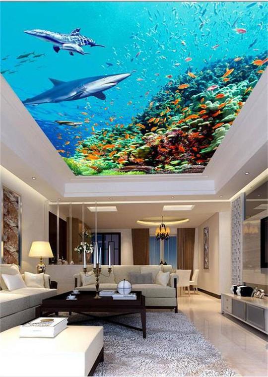 Đẹp kinh ngạc với trần nhà 3D - Ảnh 5.