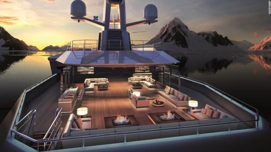 Siêu du thuyền có khả năng phá băng như tàu chiến - Ảnh 6.