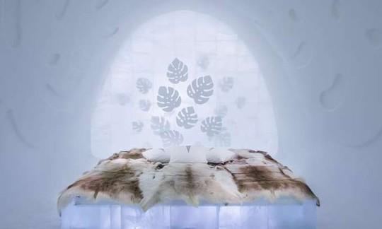 Thụy Điển mở cửa khách sạn xây từ băng tuyết - Ảnh 7.