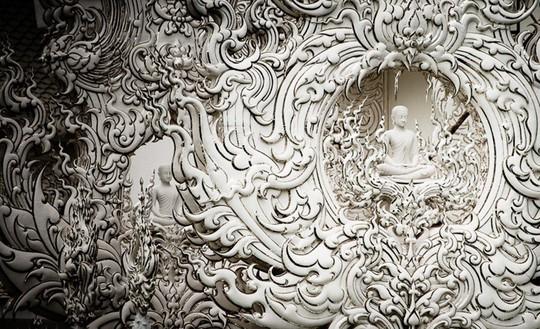 Khám phá ngôi đền trắng kỳ dị ở Thái Lan - Ảnh 7.