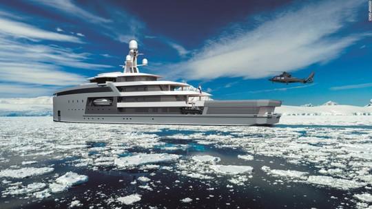 Siêu du thuyền có khả năng phá băng như tàu chiến - Ảnh 8.