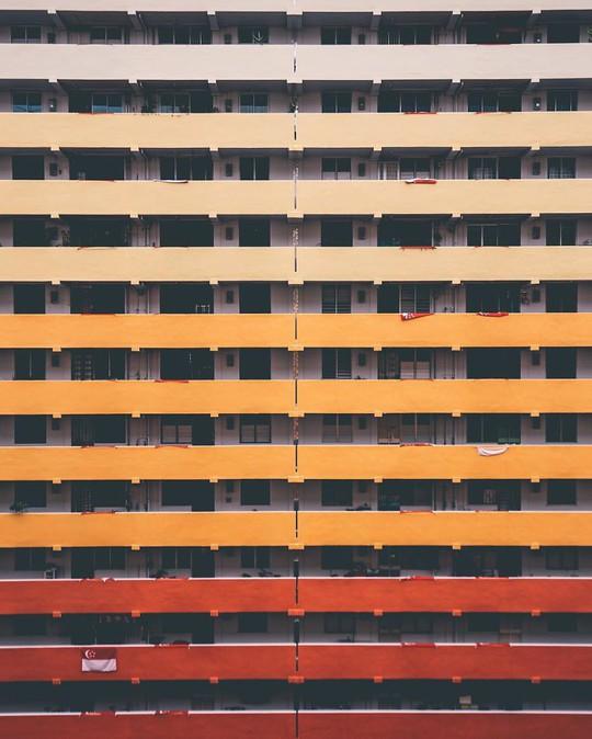 Những căn chung cư với rất nhiều màu sắc