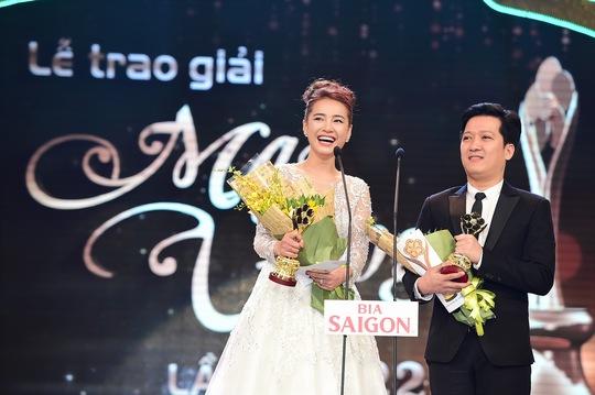 Cặp đôi Trường Giang- Nhã Phương nhận Giải Nam- Nữ diễn viên điện ảnh, phim truyền hình được yêu thích nhất