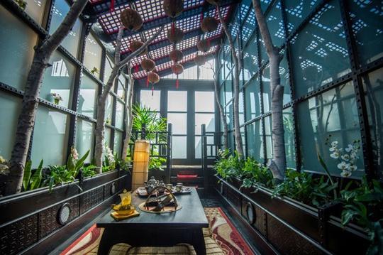 Khu vườn trong nhà lấy cảm hứng từ kiến trúc, văn hóa Nhật.