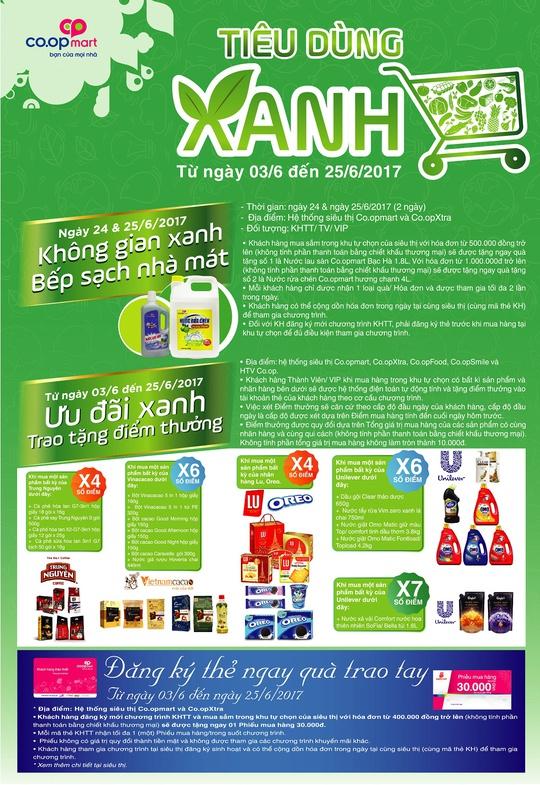Đi siêu thị Co.opmart mua sữa xanh, mỹ phẩm xanh giảm giá - Ảnh 1.