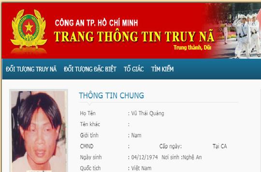 Di lý phóng viên bị truy nã từ Nghệ An về TP HCM - Ảnh 1.
