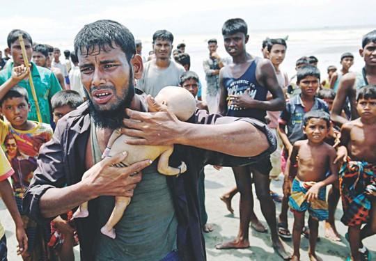Hình ảnh chạm vào tim trong cuộc khủng hoảng Rohingya - Ảnh 2.
