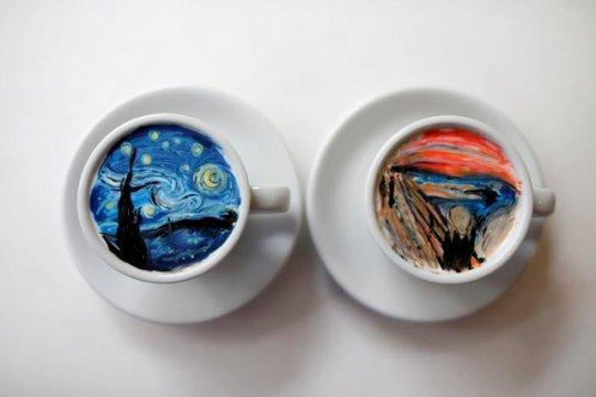 Những tách cà phê đẹp đến mức không ai nỡ uống - Ảnh 1.