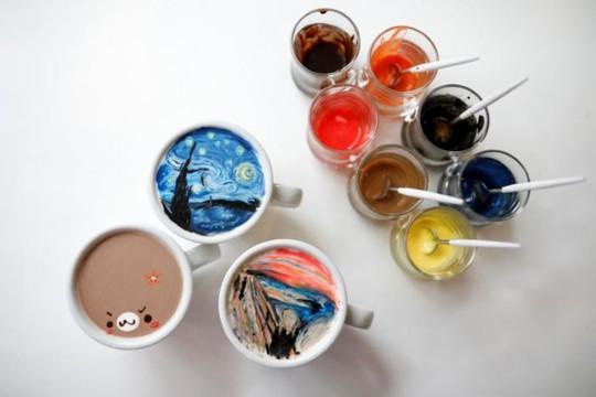 Những tách cà phê đẹp đến mức không ai nỡ uống - Ảnh 4.