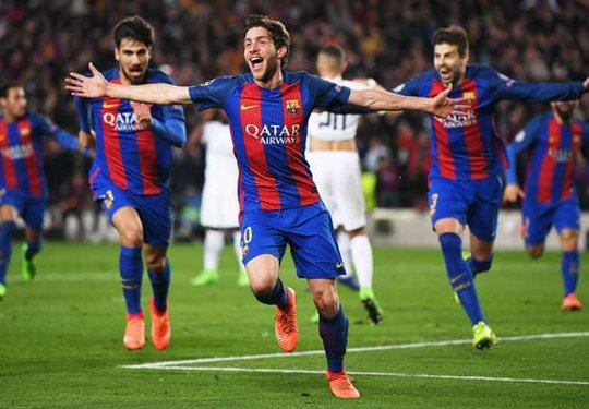 Roberto ghi bàn phút 90+5 giúp Barcelona ngược dòng vào tứ kết Champions League sau khi để thua 0-4 ở lượt đi
