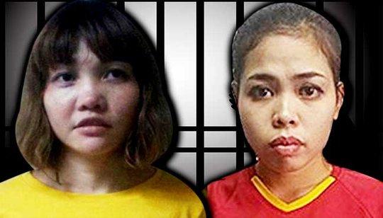 Hai nghi phạm Đoàn Thị Hương và Siti Aisyah. Ảnh: Free malaysia today