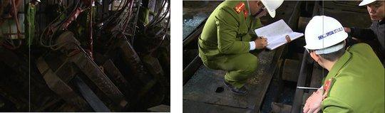Cơ quan công an khám nghiệm hiện trường vụ tai nạn lao động