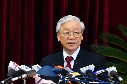 Tổng Bí thư phát biểu bế mạc Hội nghị Trung ương 6 - Ảnh 1.
