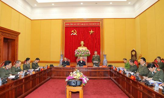 Tổng Bí thư chỉ đạo phiên họp Thường vụ Đảng ủy Công an Trung ương - Ảnh 2.