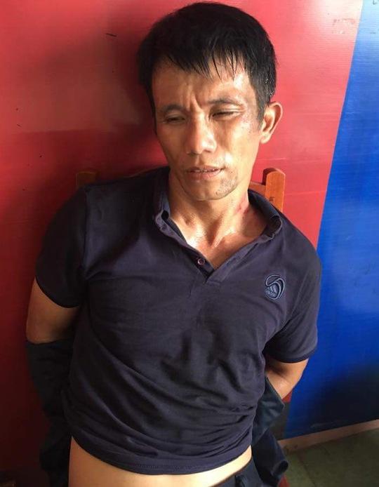 Tên C. lúc vừa bị bắt giữ sau tai nạn giao thông. Ảnh: CTV