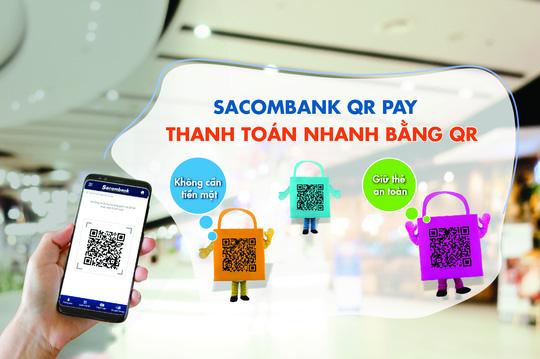 Sacombank chấp nhận thanh toán nhanh bằng QR - Ảnh 1.