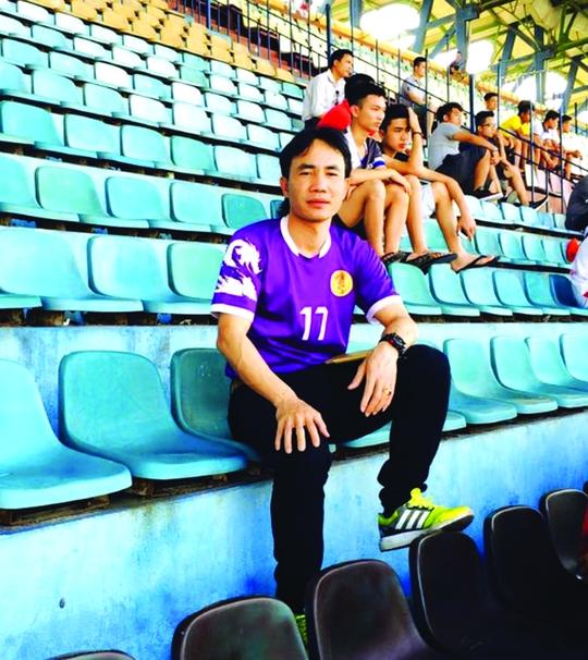 Tuyển trạch viên Trần Hữu Hùng, người có công phát hiện hơn 10 cầu thủ nhí Hải Dương cho bóng đá Việt Nam. Ảnh: ĐỨC HUY