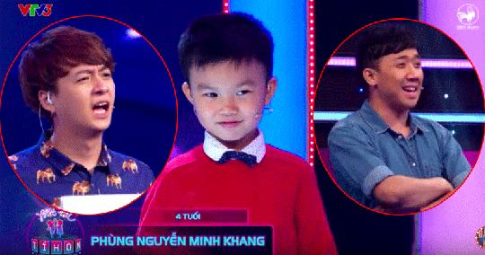 Bé Minh Khang lanh lợi trên sân khấu