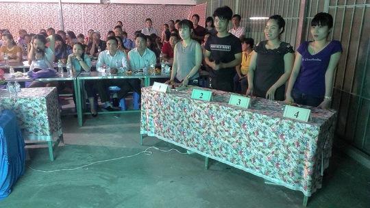 """Công nhân Công ty TNHH Pou Yuen Việt Nam trong chương trình game show """"Âm nhạc và công nhân"""""""