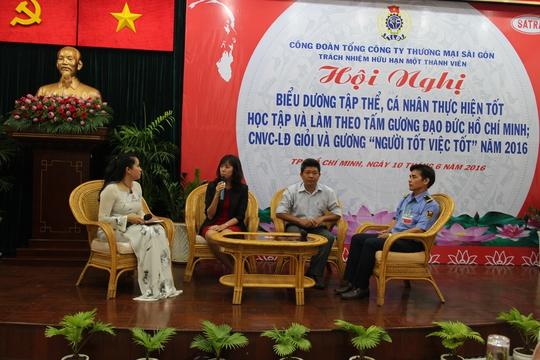 Các cá nhân và tập thể điển hình học tập Bác được Công đoàn Tổng Công ty Thương mại Sài Gòn tuyên dương