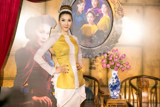 Dàn sao Việt xúng xính áo dài lên thảm đỏ - Ảnh 15.