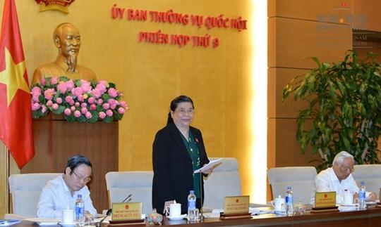 Phó Chủ tịch QH Tòng Thị Phóng phát biểu ngày 20-4 - Ảnh Quochoi.vn