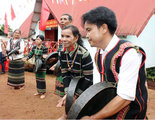 Những sinh hoạt văn hóa như thế này của người M'nông ở tỉnh Đắk Nông ít được duy trì thường xuyên
