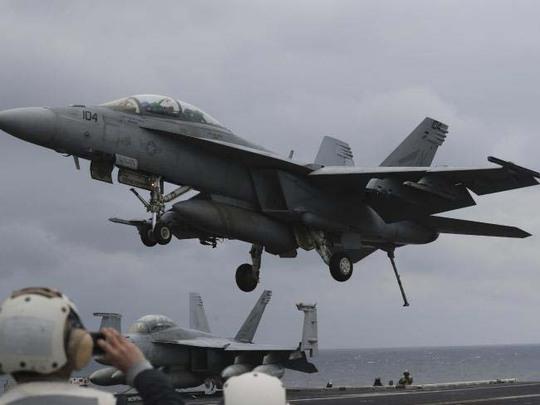 Máy bay chiến đấu Mỹ tham gia cuộc tập trận chung thường niên với Hàn Quốc gần đây Ảnh: AP
