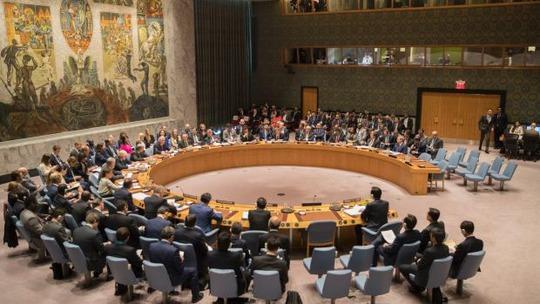 Phiên họp đặc biệt của Hội đồng Bảo an Liên Hiệp Quốc hôm 28-4 chỉ diễn ra vài giờ trước khi Triều Tiên phóng tên lửa Ảnh: AP