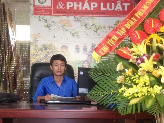 Trưởng Văn phòng đại diện Báo Kinh doanh và Pháp luật tại Hải Phòng Phan Văn Thương khi còn đương chức
