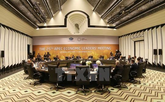 Không gian hội nghị của các nhà lãnh đạo. Ảnh: TTXVN