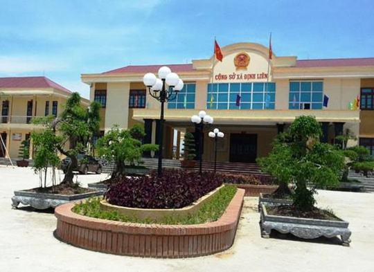 Xã Định Liên, nơi xảy ra hàng loạt sai phạm thu chi ngân sách dưới thời ông Nguyễn Văn Sỹ làm Chủ tịch UBND xã