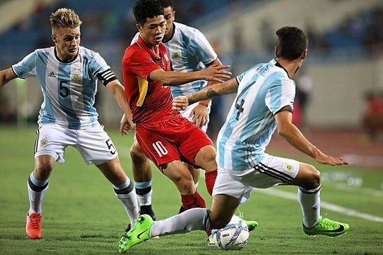 U22 Việt Nam không ghi nổi bàn danh dự trước U20 Argentina - Ảnh 4.
