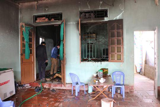 Ngôi nhà nơi xảy ra vụ hỏa hoạn khiến 2 bố con tử vong ở Thanh Hóa