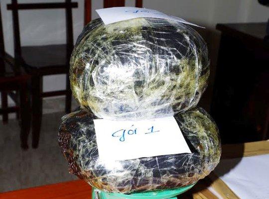 Số thuốc phiện được Biên phòng Thanh Hóa bắt giữ