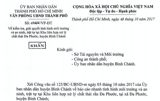 TP HCM yêu cầu kiểm tra môi trường ở bãi rác Đa Phước - Ảnh 1.