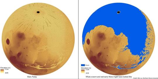 Sao Hỏa từng là hành tinh xanh giống trái đất - Ảnh 2.