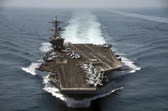 Khí tài Mỹ tấp nập áp sát Triều Tiên - Ảnh 1.