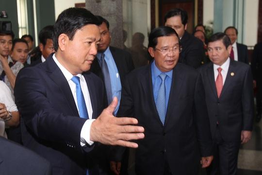 Bí thư Thành ủy Đinh La Thăng tiếp Thủ tướng Hun Sen