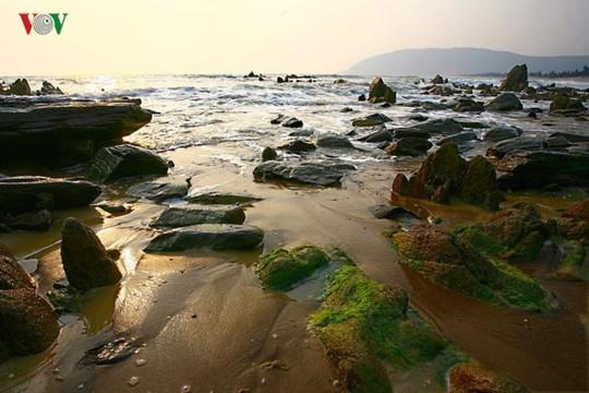 Ngắm vẻ đẹp của bãi biển hoang sơ dưới chân đèo Ngang - Ảnh 4.