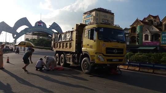 Mẹ nguy kịch, con 3 tuổi tử vong dưới bánh xe tải - Ảnh 1.