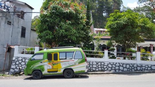 Một loại xe buýt nhỏ gọn chạy trong địa phương