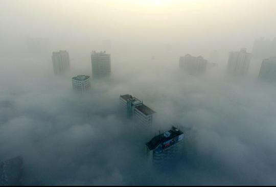 Thành phố Tương Dương, Hồ Bắc ngày 31-12. Ảnh: Reuters