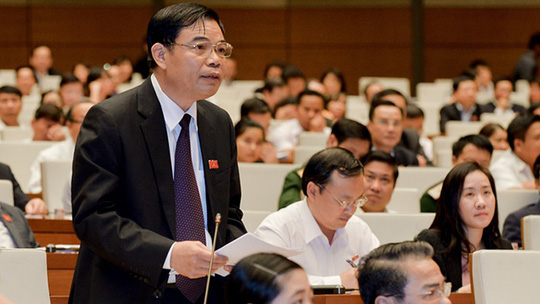 Bộ trưởng Nguyễn Thị Kim Tiến đăng đàn trả lời chất vấn - Ảnh 2.