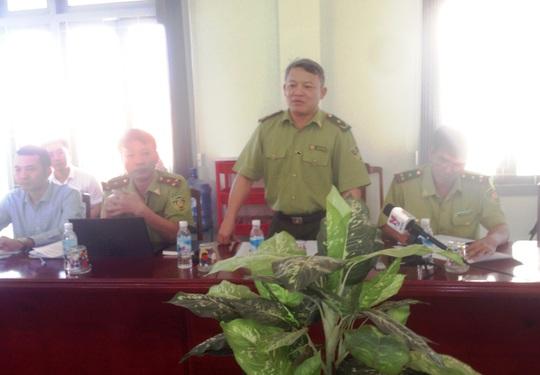 Đoàn thanh tra của Tổng cục Lâm Nghiệp về Phú Yên để thanh tra việc chuyển mục đích sử dụng rừng