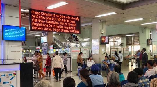 Xem U23 Việt Nam đấu, Bệnh viện Chợ Rẫy có thêm…chốt cấp cứu