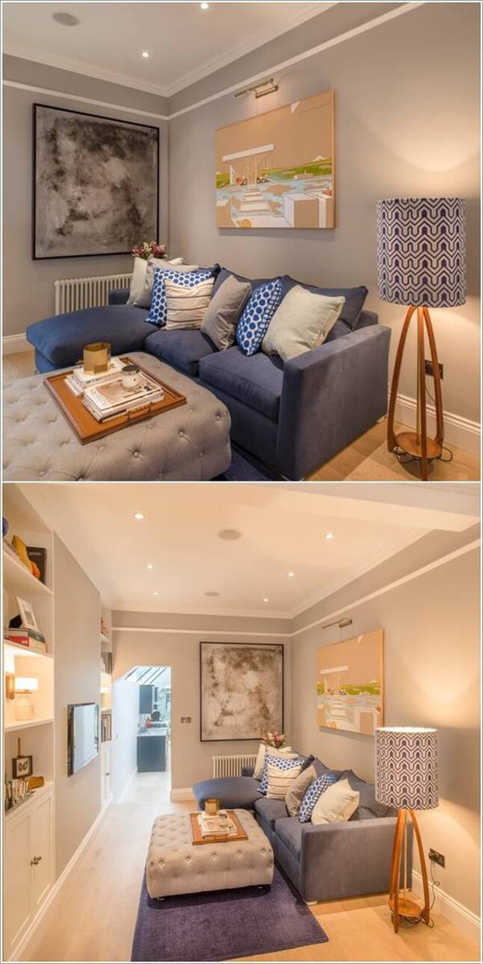 10 cách tuyệt vời trang trí cho phòng khách nhỏ - Ảnh 1.