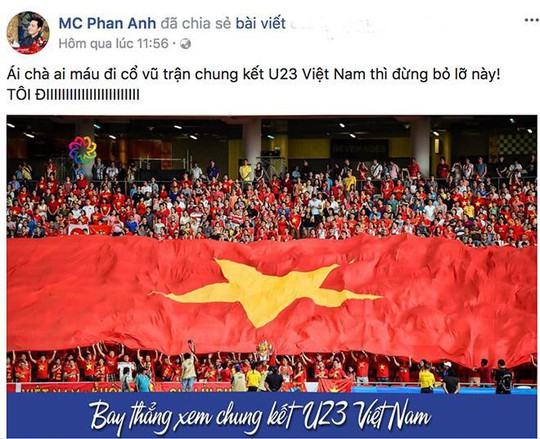 Sao Việt nào đi Trung Quốc cổ vũ trận chung kết U23 Việt Nam? - Ảnh 1.